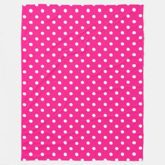 Couverture Polaire Point de polka rose