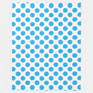 Couverture Polaire Pois bleu