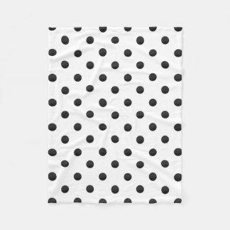 Couverture Polaire Pois noir et blanc d'aquarelle