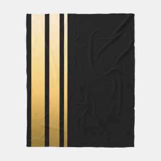 Couverture Polaire Rayure triple d'or