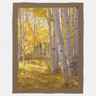 Couverture Polaire Réchauffeur de recouvrement en bois d'automne