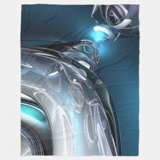 Couverture Polaire Réflexions de bleu