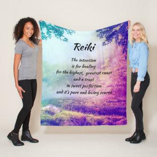Couverture Polaire Reiki inspiré guérissant