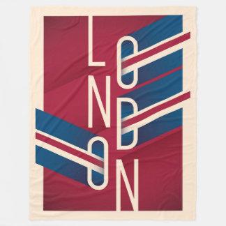 Couverture Polaire Rétro typographie illustrée de Londres, Angleterre