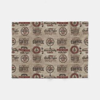 Couverture Polaire Rétros étiquettes de café pour des amants de café