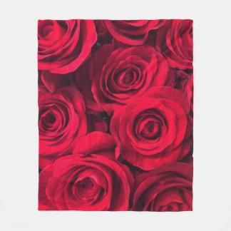 Couverture Polaire Roses rouges riches