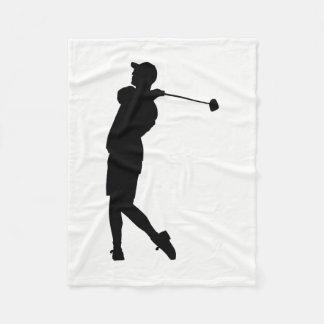 Couverture Polaire Silhouette de golfeur