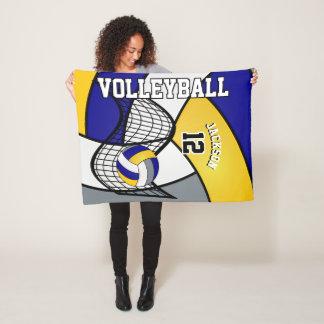 Couverture Polaire Sport de volleyball dans bleu, le blanc et le