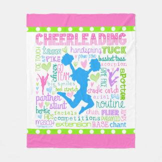 Couverture Polaire Typographie Cheerleading en pastel de mots
