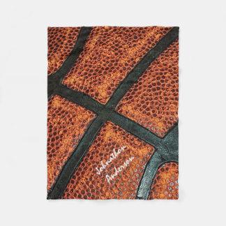 Couverture Polaire Vieux rétro motif de basket-ball avec le nom