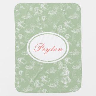 Couverture Pour Bébé Alice dans la couverture de vert de temps de thé