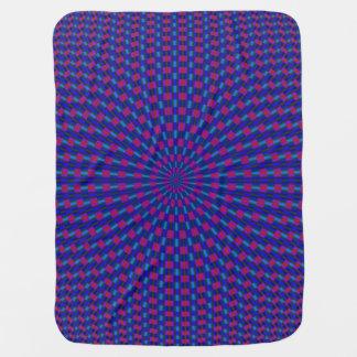 Couverture Pour Bébé Anneaux géométriques bleus et rouges de cercles