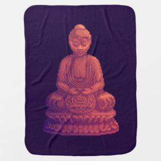 Couverture Pour Bébé Art de pixel de Bouddha de coucher du soleil