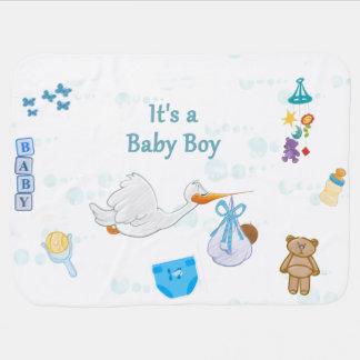 Couverture Pour Bébé C'est un garçon - baby shower personnalisé