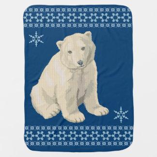 Couverture Pour Bébé Chandail laid de Noël de flocon de neige d'ours