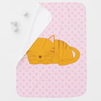 Couverture Pour Bébé Chat tigré orange de sommeil