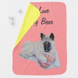 Couverture Pour Bébé Chien mignon d'original d'ours de nounours de rose