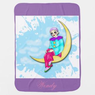 Couverture Pour Bébé Clown sur la couverture de lune