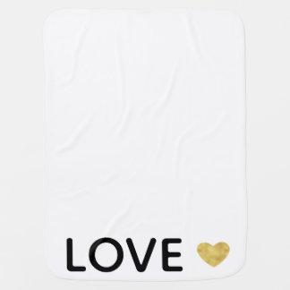 Couverture Pour Bébé Coeur d'or d'amour