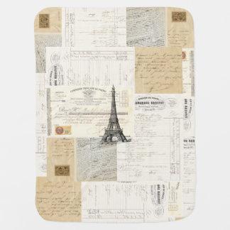Couverture Pour Bébé Couverture française vintage de bébé d'éphémères