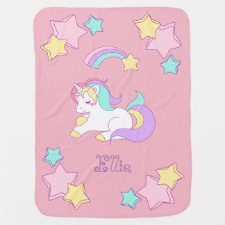Couverture Pour Bébé Couverture nommée de Unicorn Baby