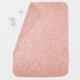 Couverture Pour Bébé Couverture rose de bébé d'or