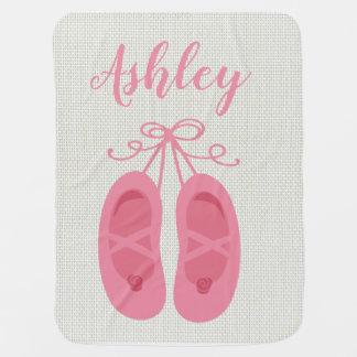 Couverture Pour Bébé Danseur rose de chaussures d'orteil de ballet de
