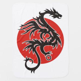 Couverture Pour Bébé Dragon Sun - blanc rouge noir + vos idées