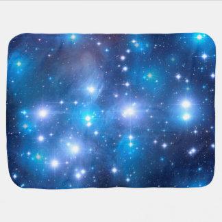 Couverture Pour Bébé Étoiles bleues d'univers + vos idées