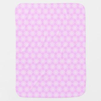 Couverture Pour Bébé Filles géométriques roses de motif