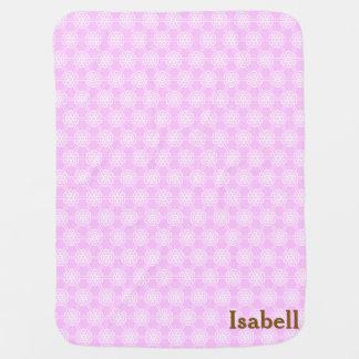 Couverture Pour Bébé Filles géométriques roses personnalisées de motif