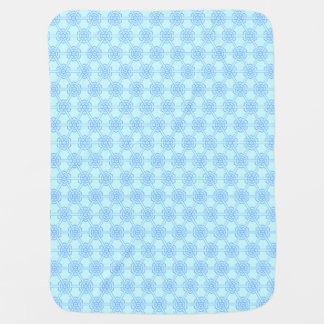 Couverture Pour Bébé Garçons géométriques bleus de motif