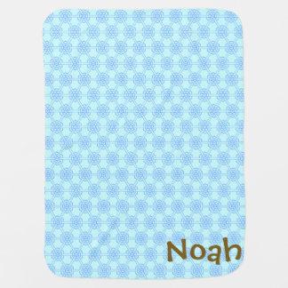 Couverture Pour Bébé Garçons géométriques bleus personnalisés de motif