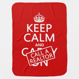 Couverture Pour Bébé Gardez le calme et appelez un agent immobilier