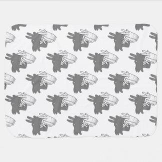 Couverture Pour Bébé Gris de chèvre de Billy de silhouette de main