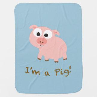 Couverture Pour Bébé Je suis un porc !