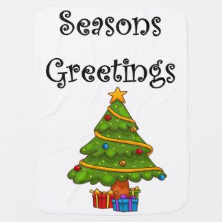 Couverture Pour Bébé Joyeuses Fêtes d'arbre de Noël