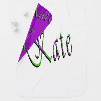 Couverture Pour Bébé Kate, nom, logo, couverture réversible de bébé