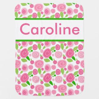 Couverture Pour Bébé La couverture rose personnalisée de Caroline
