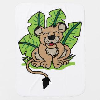 Couverture Pour Bébé Le lion CUB mignon de jungle couvrent
