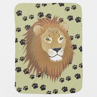 Couverture Pour Bébé Lion traces de lion de reproductions de lion patte