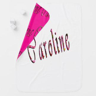 Couverture Pour Bébé Logo nommé floral de Caroline,