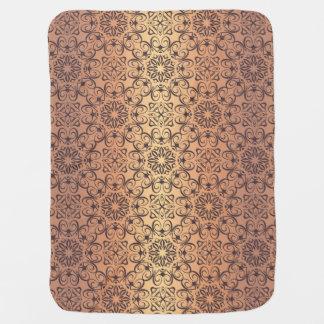 Couverture Pour Bébé Motif antique royal de luxe floral