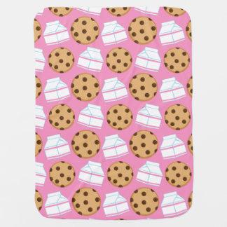 Couverture Pour Bébé Motif de lait et de biscuits