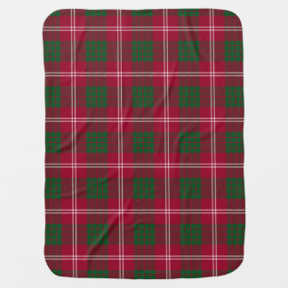 Couverture Pour Bébé Motif de plaid de tartan de clan de Crawford
