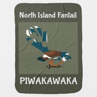 Couverture Pour Bébé Oiseau de Faintail Nouvelle Zélande Aotearoa