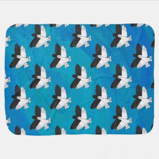 Couverture Pour Bébé Ombre Eagle sur le bleu