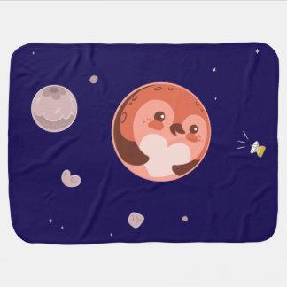 Couverture Pour Bébé Planète et lunes de pingouin de Kawaii Pluton
