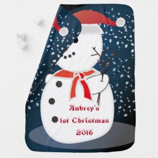 Couverture Pour Bébé Première couverture de bonhomme de neige de Noël