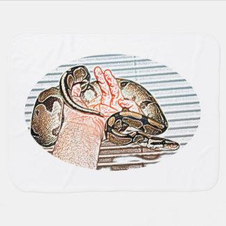 Couverture Pour Bébé reptile disponible de croquis de serpent de python